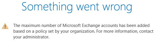 OUTLOOK: Increase the maximum number of Exchange Accounts per profile